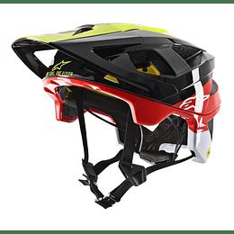 Casco Alpinestars Vector Tech - Pilot -Black Yellow Flou Red Glossy