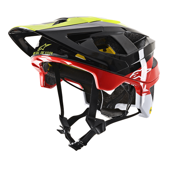 Casco Alpinestars Vector Tech - Pilot -Black Yellow Flou Red Glossy