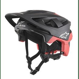 Casco Alpinestars Vector Pro - Delta Cool Gray Brith Red Matt