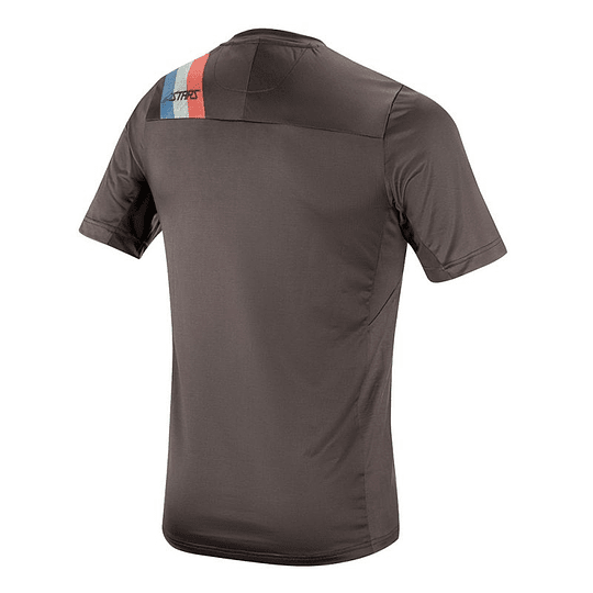 Polera Alpinestars 4.0 Ss Jersey Melange Dark Gray Teal Red