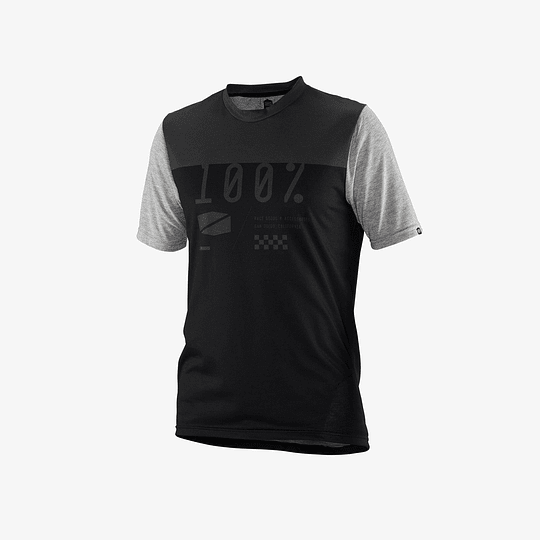 Jersey 100% Airmatic Black/Charcoal