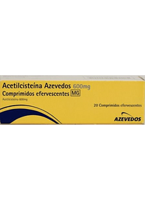 Acetilcisteína Azevedos MG, 600 mg x 20 comp eferv