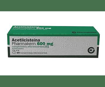 Acetilcisteína Pharmakern MG, 600 mg x 20 comp eferv