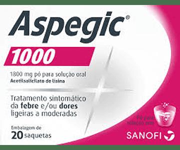Aspegic 1000, 1800 mg x 20 pó sol oral saq