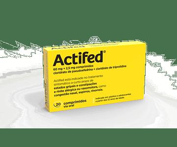 Actifed, 60/2,5 mg x 20 comp