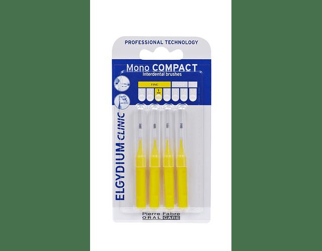 Elgydium Clinic Escovilhão Mono Compact 4 Unidades - Amarelo