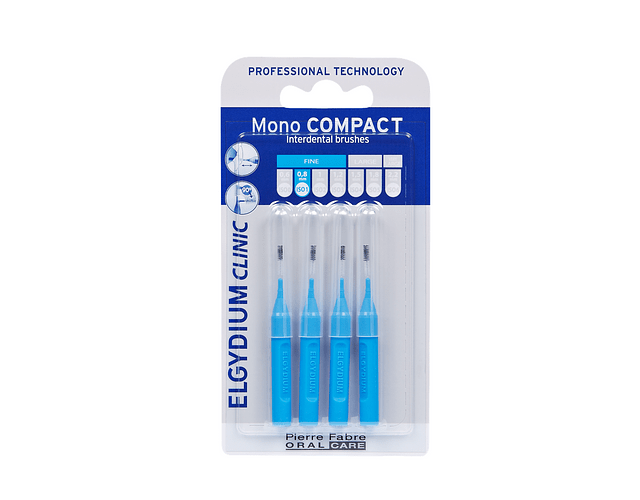 Elgydium Clinic Escovilhão Mono Compact 4 Unidades - Azul