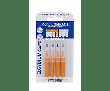 Elgydium Clinic Escovilhão Mono Compact 4 Unidades - Laranja