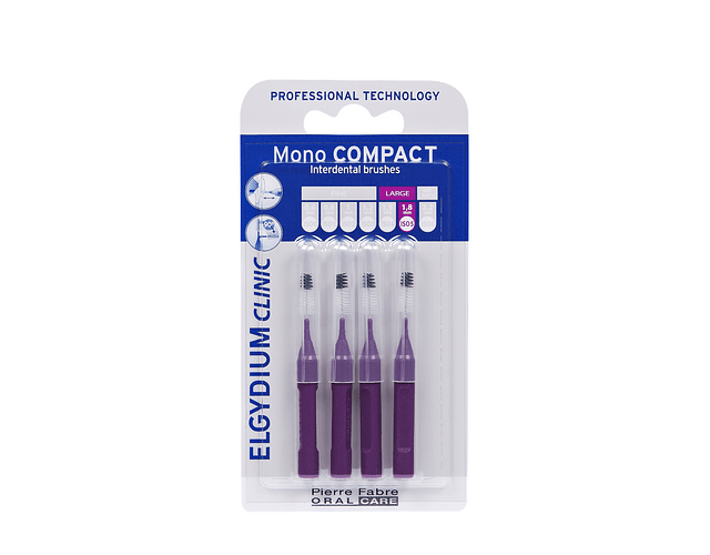 Elgydium Clinic Escovilhão Mono Compact 4 Unidades - Roxo