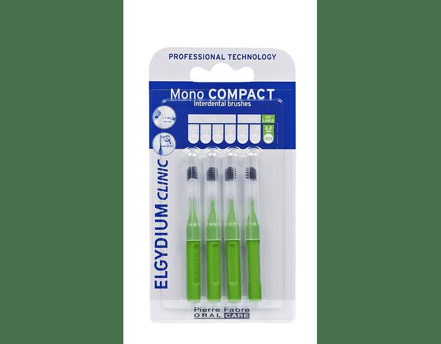 Elgydium Clinic Escovilhão Mono Compact 4 Unidades - Verde
