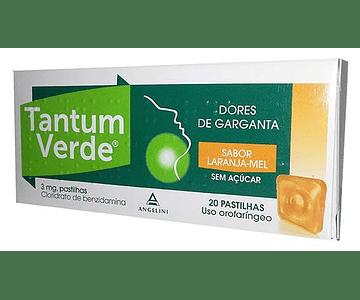 Tantum Verde Laranja-Mel Sem Açucar, 3 mg x 20 pst