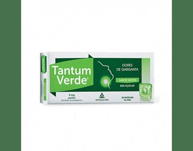 Tantum Verde Menta Sem Açucar, 3 mg x 20 pst