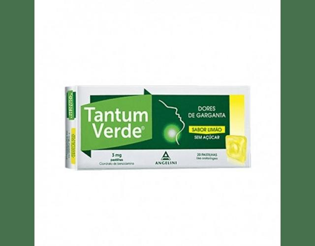 Tantum Verde Limão Sem Açucar, 3 mg x 20 pst