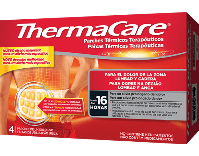 Thermacare Faixa Termica Lombar Anca x4