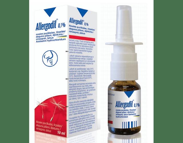 Allergodil, 1 mg/mL-10 mL x 1 sol pulv nasal