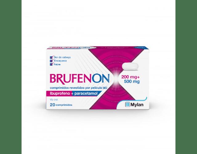 Brufenon Ibuprofeno 200 mg + Paracetamol 500 mg x 20comp