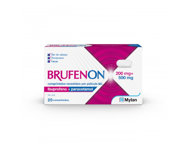 Brufenon Ibuprofeno 200 mg + Paracetamol 500 mg x 20 comp