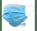 Máscaras Descartáveis x 50     (0.058€/máscara)