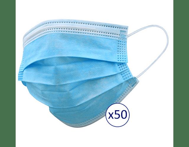 Máscaras Descartáveis x 50     (0.09€/máscara)