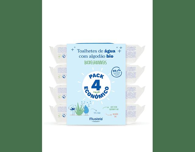 Mustela Bebé Toalhete de Limpeza de Água 4x60 unidades