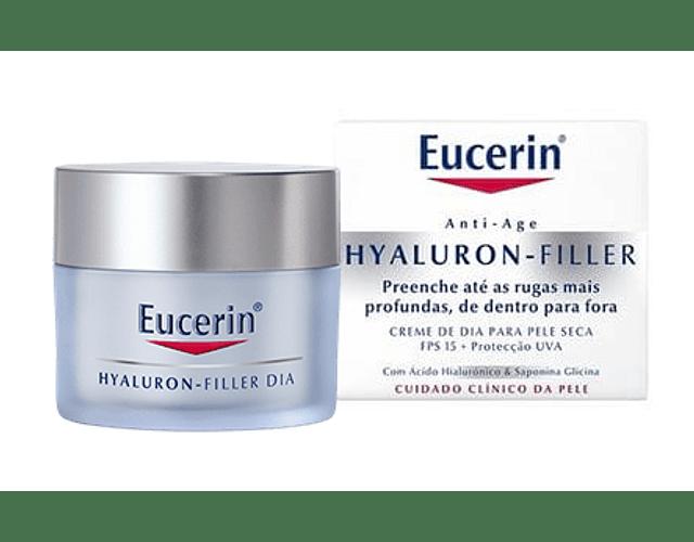 Eucerin Hyaluron-Filler Creme de Dia Pele Seca 50  mL