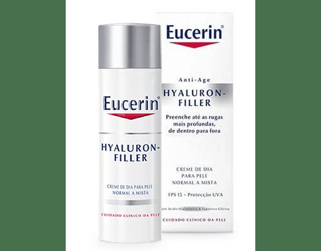 Eucerin Hyaluron-Filler Creme de Dia Pele Normal a Mista 50 mL