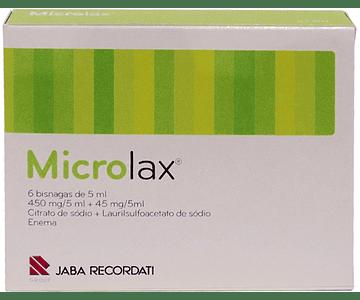 Microlax, 450/45 mg/5 mL x 6 enema sol tubo