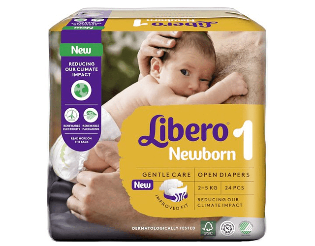Libero Fralda Newborn (T1) x 4      (4.40/pacote)