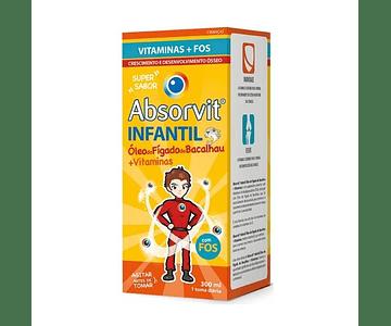 Absorvit Infantil Emulsão Óleo de Fígado de Bacalhau + Vitaminas 300ml