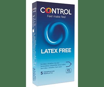 Control Preservativo Látex Free x 5 unidades