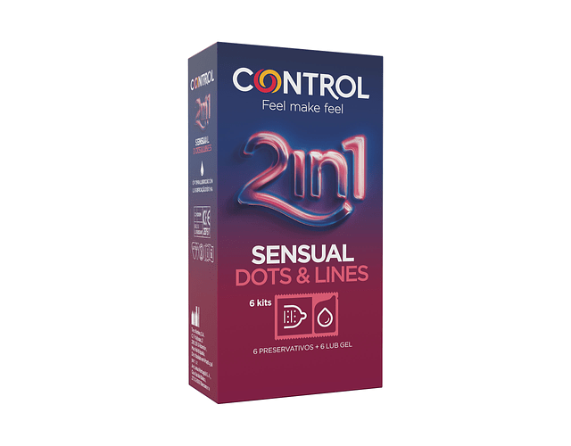 Control Sensual Dots and Lines 2in1 x6