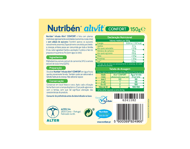 Nutriben Infusão Alivit Confort 150g