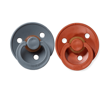 Chupetas BIBS 0-6m Rust/Smoke  x2