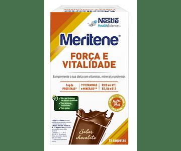 Meritene Força e Vitalidade Bebida Solúvel em Pó Sabor a Chocolate 15 unidades