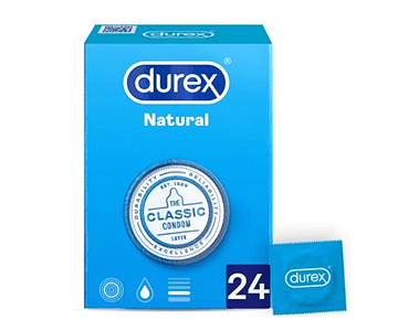 Durex Preservativos Natural Plus x 24 unidades