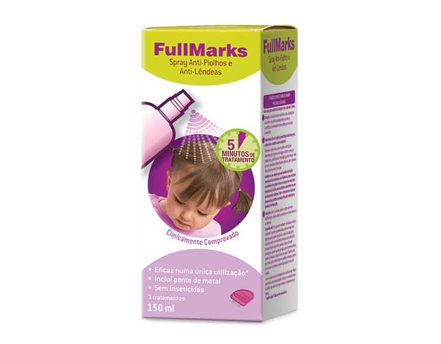 Fullmarks Spray Anti-Piolhos Lêndeas 150ml