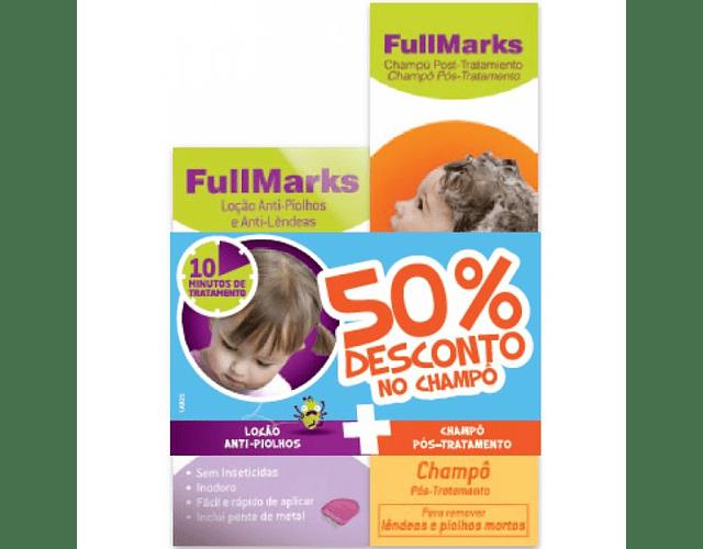 FullMarks Loção Piolhos/Lêndeas + Champô Pós tratamento com Desconto de 50%
