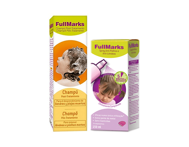 FullMarks Spray Anti-piolhos + Champô (-50% Champô)