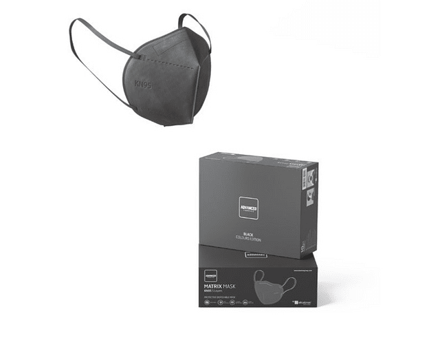 Máscara KN95 Black x 5   (0.56€/máscara)