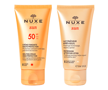 Nuxe Sun Creme Rosto Spf 50 Com Oferta Leite Pós Solar 50ml + 50ml