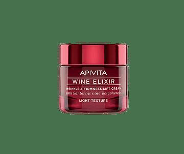 Apivita Wine Elixir Creme Antirrugas & Refirmante Com Efeito Lifting Textura Ligeira 50 mL