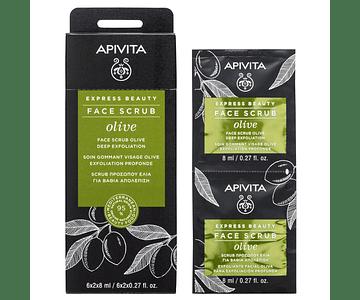 Apivita Express Beauty Creme Esfoliante Intensivo De Azeitona 2x8 mL