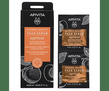 Apivita Express Beauty Creme Esfoliante Suave De Alperce 2x8 mL
