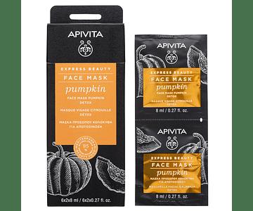 Apivita Express Beauty Máscara Detox De Abóbora 2x8 mL