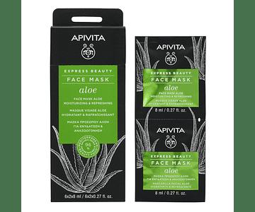 Apivita Express Beauty Máscara Hidratante De Aloé 2x8 mL