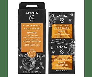 Apivita Express Beauty Máscara Hidratante & Nutritiva De Mel 2x8 mL