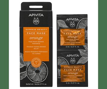 Apivita Express Beauty Máscara Iluminadora De Laranja 2x8 mL