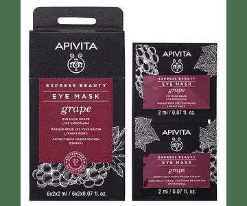 Apivita Express Beauty Máscara De Olhos Antirrugas De Uva 2x2 mL