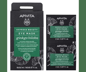 Apivita Express Beauty Máscara Antipapos & Antiolheiras De Ginkgo Biloba 2x2 mL