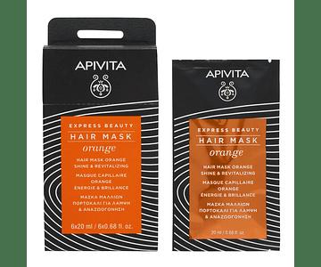 Apivita Express Beauty Máscara Capilar Brilho & Vitalidade Com Laranja 20 mL